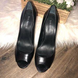 Enzo Angiolini Black Leather Heels